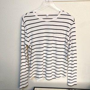 NWT BP Sz XS Long Sleeve Cream & Black Shirt
